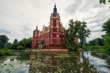 historic muskau castle of pueckler in saxony germany, unesco