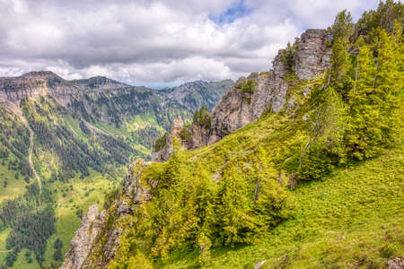a few summer hiking impressions from the famous Niederhorn region in the Swiss Alps, HDR