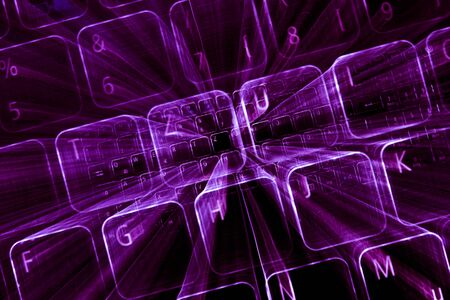 Digital abstract bits data stream, cyber pattern digital background. Banque d'images