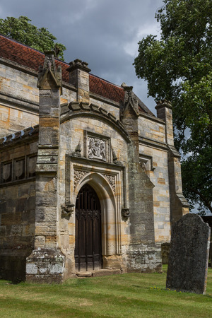 kent: Entrance of Penshurst church and cemetery in Kent, United Kingdom