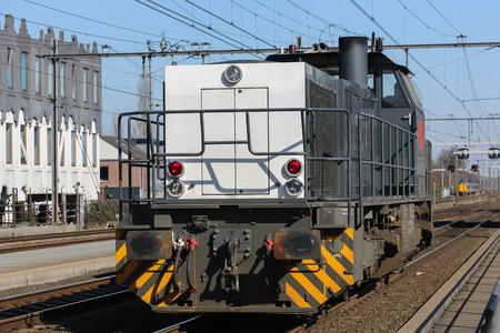 railroads: Train engine at the dutch railroads