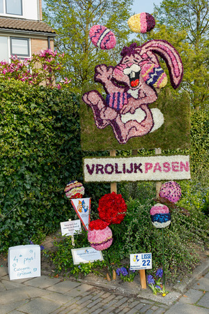 lisse: Lisse, The Netherlands - April 20, 2014: Annual mosaic flower competition in Lisse, The NetherlandsPhoto taken on April 20, 2014