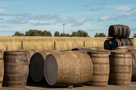 Whisky barrels at a cooperage. Photo taken on: September 13th, 2015