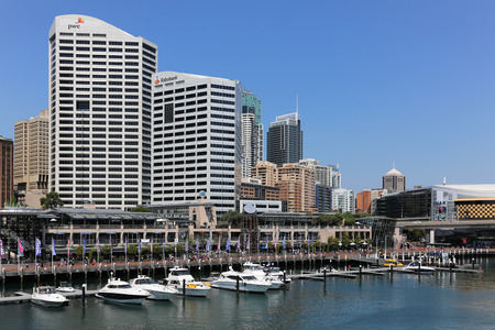 cahill: SYDNEY, AUSTRALIA - October 15, 2016: Darling harbour skyline of Sydney Editorial