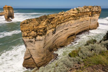 Great Ocean Road, the rock formation is called Razorback because of the sharp edge caused by wind, salt water and waves. Victoria, Australia.