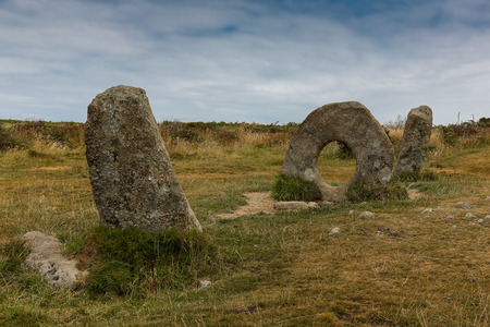 Men an Tol, in Cornish means stone the hole, standing stones are located near Madron in Cornwall, England