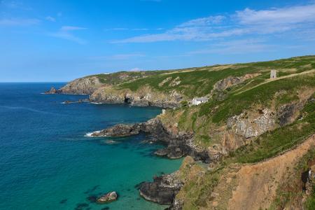 Cornwall coastline with stunning view near Gurnards Head, England, United Kingdom. Banco de Imagens