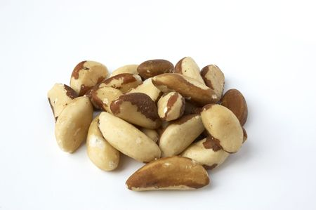Brazil nuts, isolated on a white background