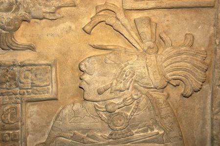 mur de pierres, des sculptures dans un mus�e en Angleterre Banque d'images