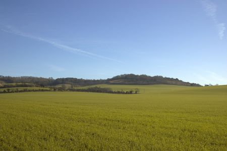 Farmland in winter with a blue sky Stock Photo - 767259