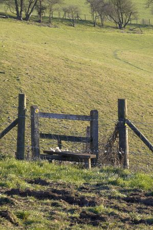 stile: A Country stile in field in the countryside