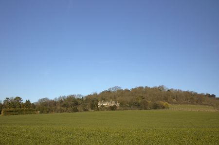 An old house on a hill with a blue sky Stock Photo - 776930