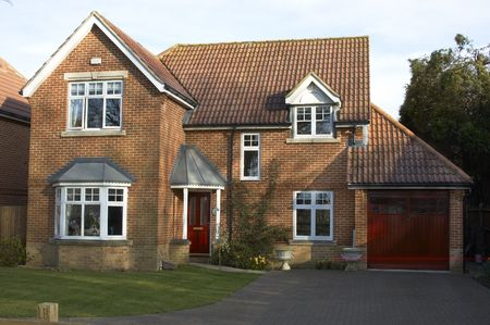 A detached house with garage in England Stock Photo - 871344