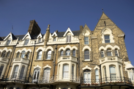 Une rang�e de maisons de ville victorienne en Angleterre