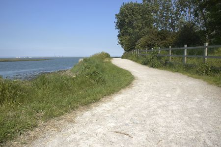 ramble: A footpath alone the side of the river Medway in Kent,England