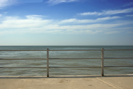 A view out too sea over the railings