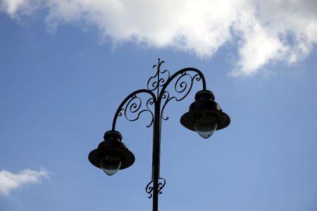strret: A victorian style strret lamp Stock Photo
