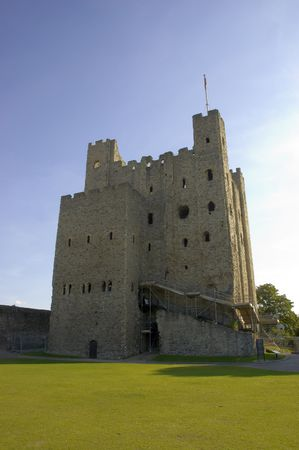 A view of Rochesters Norman castle in Kent, Engalnd Stock Photo