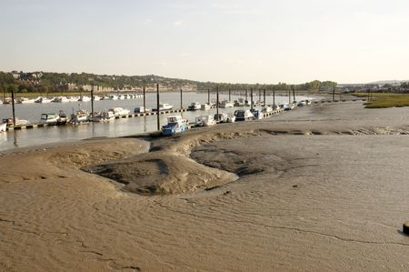 A view across the river Medway in Rochester