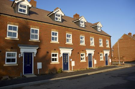 typically english: A row of new terraced houses