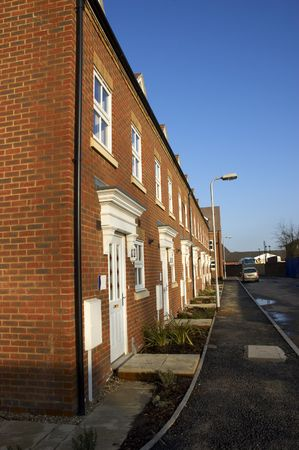 A row of new terraced houses Stock Photo - 2901521