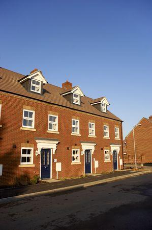 A row of new terraced houses Stock Photo - 2901518