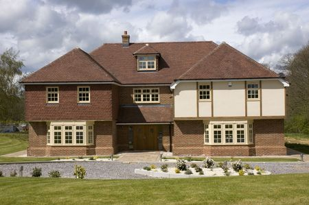 detached: A modern  detached house in the UK Stock Photo