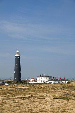 dungeness: The old black lighthouse at Dungeness