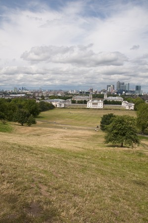 A view of the London skyline from greenwich park photo