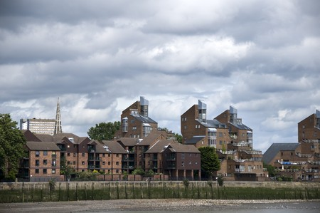 A view of some river side apartments in london photo