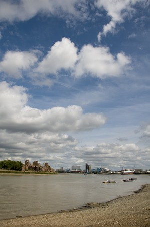 A view of the river thames in London photo