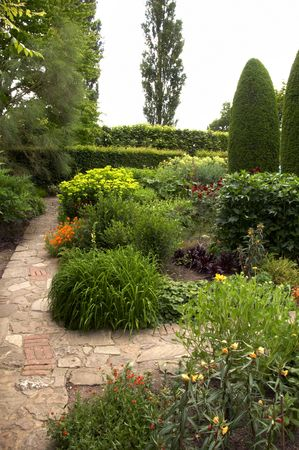 A view of garden flower beds in summer Stock Photo - 5492174