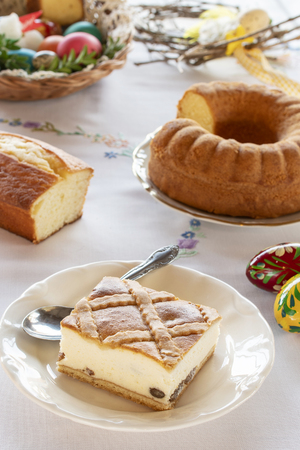 Polish Easter cheesecake