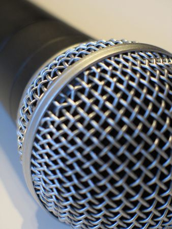 black and silver microphone Stock Photo