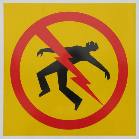 electrocution: electrocution danger sign