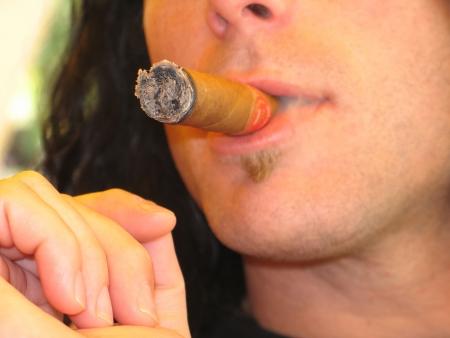 man smoking a cigar Stock Photo - 2859935