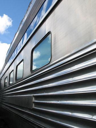 silver train Standard-Bild