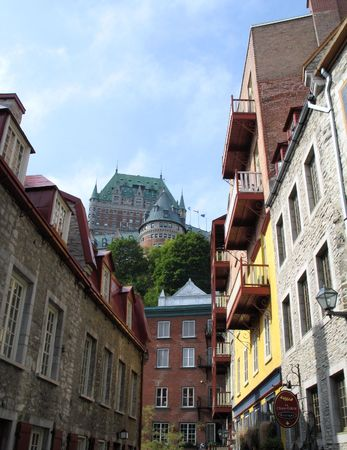 buildings in the old quebec Stock Photo