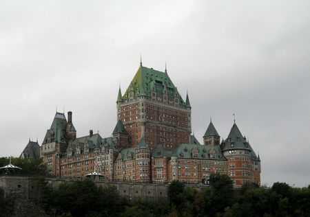 chateau frontenac in quebec, canada Stock Photo