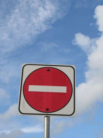 do not enter: no entrance sign
