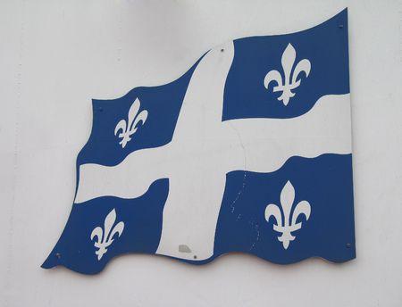 quebec flag Stock Photo