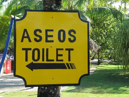spanish washroom sign photo