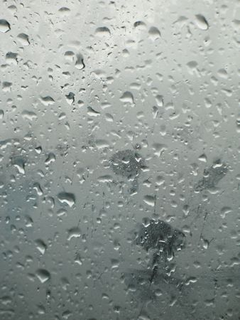 drops in a window