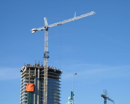 construction of a tower Stock Photo