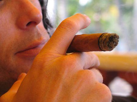 man smoking cigar Stock Photo - 3323603