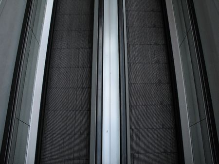black and grey escalator Stok Fotoğraf - 3350179