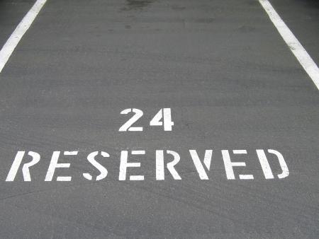 reserved parking spot Standard-Bild