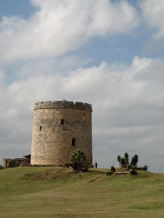 old castle on a green hill Stock Photo - 3407812