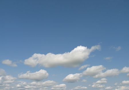 cirrus: puffy clouds with blue sky