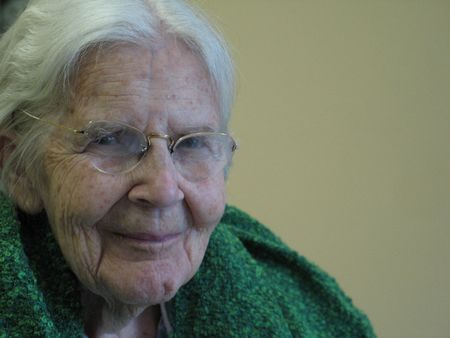 grandmother smilling Stock Photo